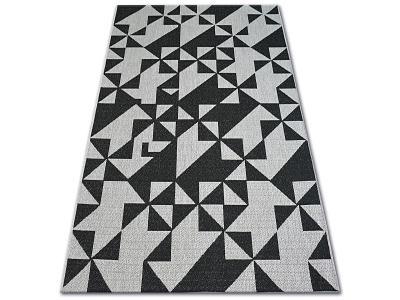 KOBEREC FLOORLUX SISAL 120x170 cm 20489 silver/black #DEV761