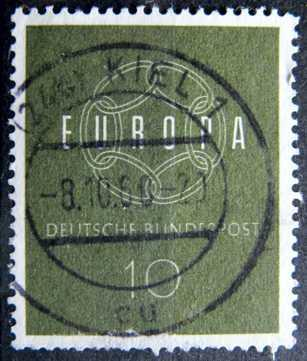 BUNDESPOST: MiNr.320 EUROPA and CEPT 10pf, Europa Issue 1959