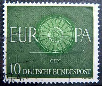 BUNDESPOST: MiNr.337 CEPT 10pf, Europa Issue 1960
