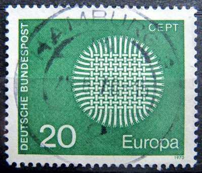 BUNDESPOST: MiNr.620 Interwoven Threads 20pf, Europa Issue 1970
