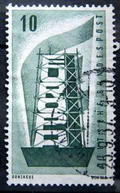 BUNDESPOST: MiNr.241 Rebuilding Europe 10pf, Europa Issue 1956