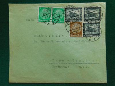 Dopis - 1937 - Turn - Teplitz - Trnovan -Teplice - Deuts. Reich,Sudety