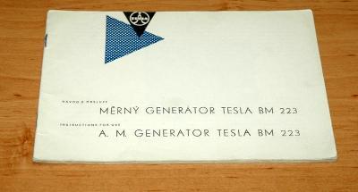Manuál TESLA BM 223 měrný generátor