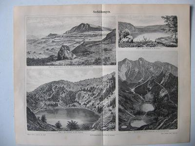 Různé druhy jezer - Seebildungen