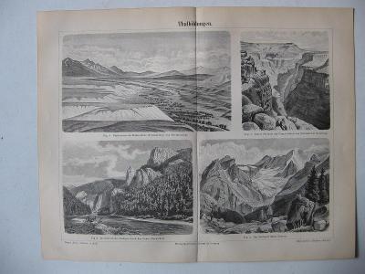 Různé druhy údolí  - Thalbildungen