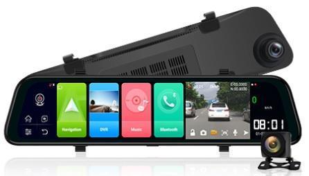 "12"" DVR ADAS zpětné zrcátko s Android 8"