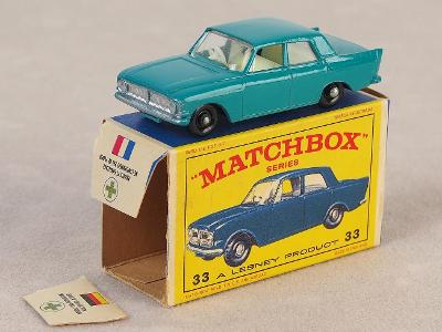 MATCHBOX 33B - FORD ZEPHYR 6 MKIII - 1963 - PŮVODNÍ KRABIČKA