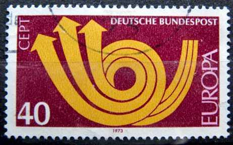 BUNDESPOST: MiNr.769 Post Horn and Arrows 40pf, Europa Issue 1973