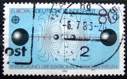 BUNDESPOST: MiNr.1176 Resonant Circuit and Electric Lines 80pf 1983