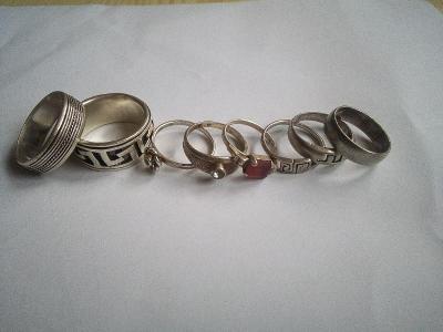 Konvolut Ag 8 Prstenů