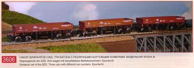 PERESVET 3606 Sada 3 výsypních vozů SZD Ep.IV / TT 1:120