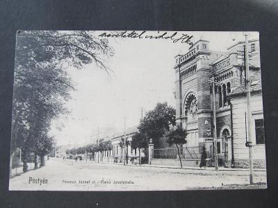 k8627 PIEŠŤANY Pöstyen synagoga 1914