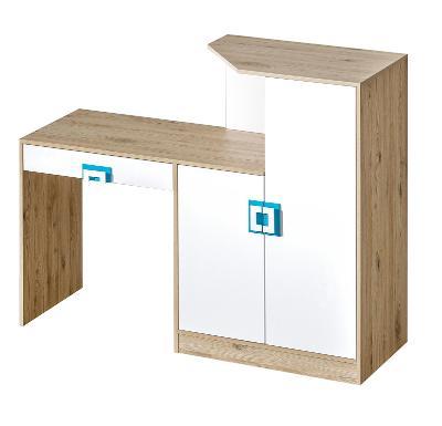 Levný hezky moderní psací stůl - komoda NICO 11 / 4 barvy !