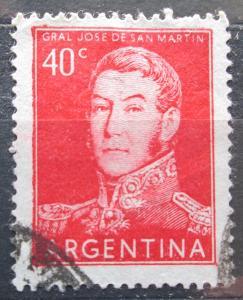 Argentina 1956 Generál Jose de San Martín Mi# 621 II 0097
