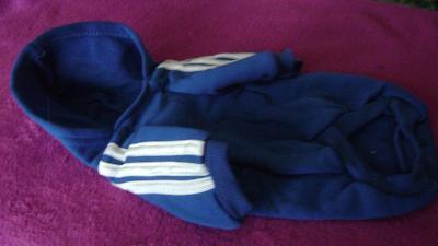 Obleček pro pejsky, teplákový s kapucí ADIDOG