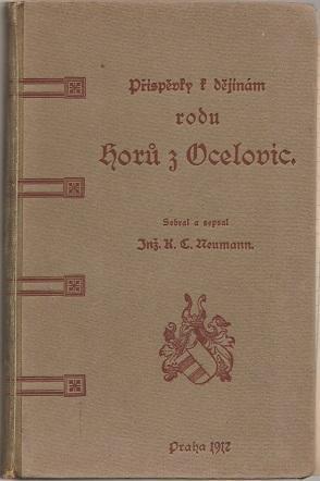 Příspěvky k dějinám rodu Horů z Ocelovic - Neumann