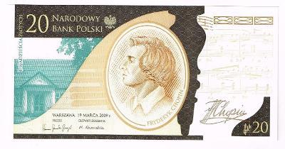 Polsko Fryderyk Chopin 20 zlotych UNC