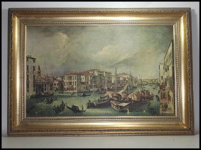 Canal grande Venice, reprodukce, 64x44 cm
