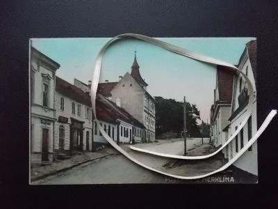 Plzeň jih Přeštice Merklín kostel obchody