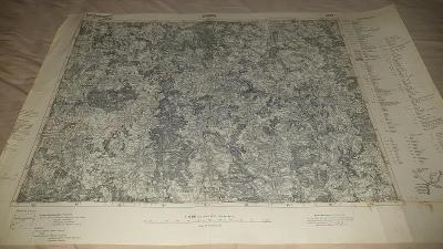 Německá vojenská mapa 1928-SONDERAUSGABE-Jihlava-Třešt-Brtnice-Kamenic