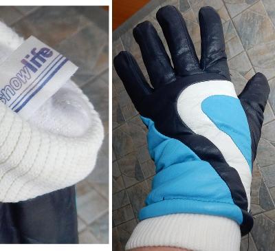 SnowLife dámské zimní rukavice pravá kůže velikost L