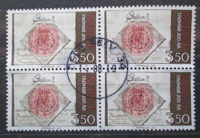 Norsko 1994 Tromso, 200. výročí čtyřblok Mi# 1154 1748