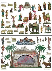 Historický vystřihovací papírový betlém č. 11