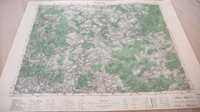 Vojenská mapa 1948-Královice-Radnice-Zbiroh-Podmokly-Doubravka-Dobříč