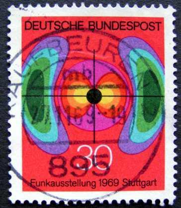 BUNDESPOST: MiNr.599 Electromagnetic Field 30pf 1969