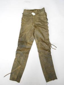Kožené kalhoty šněrovací LOUIS vel.38