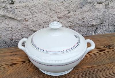 Stará porcelánová terina - mísa na polévku