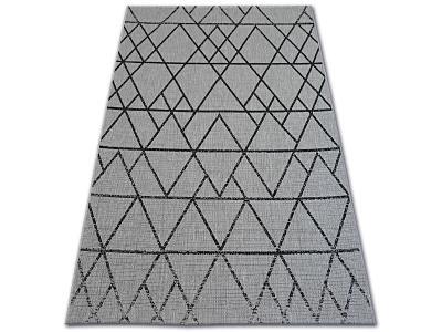 KOBEREC FLOORLUX SISAL 120x170 cm 20508 silver/black #DEV765