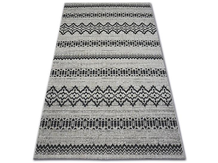 KOBEREC FLOORLUX SISAL 120x170 cm 20510 silver/black #DEV899 - Zařízení