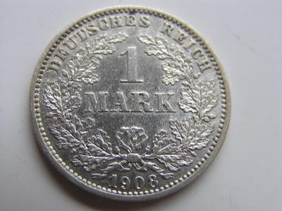 mince 1 marka 1908 E