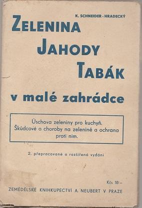 Zelenina jahody tabák v malé zahrádce - Schneider - Knihy