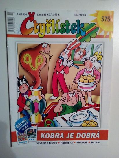 Čtyřlístek, Kobra je dobrá, č. 575, pěkný zachovalý stav - Komiksy