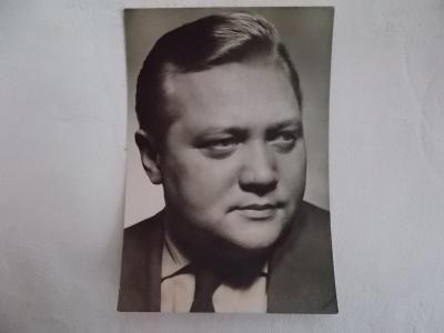 Foto pohlednice Československo herec Rudolf Hrušínský  foto Rosegnal