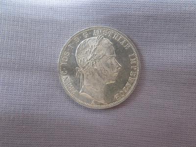 1 Florin 1860 A bez tečky za rex