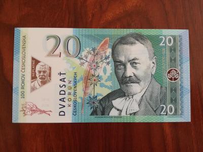 20 korun československých, P. O. Hviezdoslav - Matej Gábriš, stav N