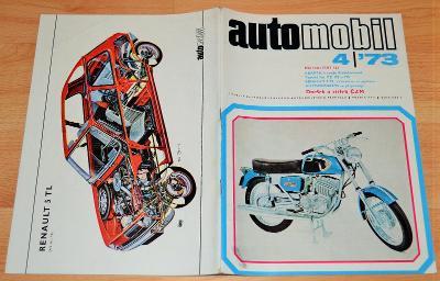 RENAULT 5TL / ČZM 250 / FIAT 132 / VÝVOJ MOTO - AUTOMOBIL 4/1973