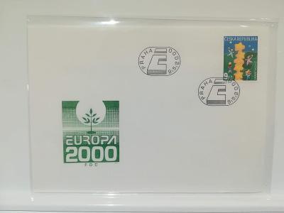 FDC 253 - Česká republika - Europa 2000 - společné vydání s ČR