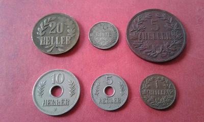 konvolut 6 minci Německá východní Afrika (DOA)
