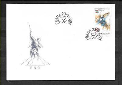 FDC 406 LOH Atény 2004 - paralympiáda - oštěpař (25 Kč)