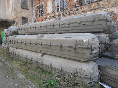 POUZDRO Z RAKETY-SSSR - LAMINÁT- cca 6 m-JEN 10 kusů / 6500,-kč za kus