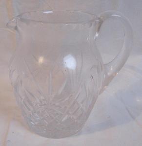 Džbánek, sklárna Rückl-Crystal-Nižbor, vysoký 14,2 cm, nový-nepoužitý