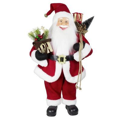 Vánoční dekorace Santa Ježíšek v červeném kabátku 60 cm