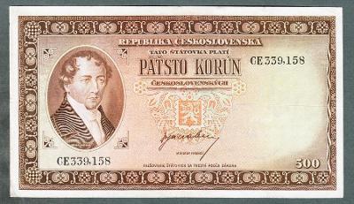500 kčs 1945 NEPERFOROVANA VZÁCNÁ