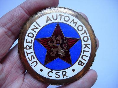 Odznak - Ústřední automotoklub ČSR - 60 mm. Vzácné