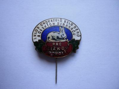 Starý odznak - Klub chovatelů belg. obrů - Žižkov - Karnet a Kyselý