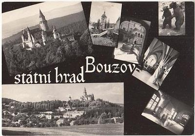 pohlednice hrad Bouzov